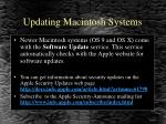 updating macintosh systems