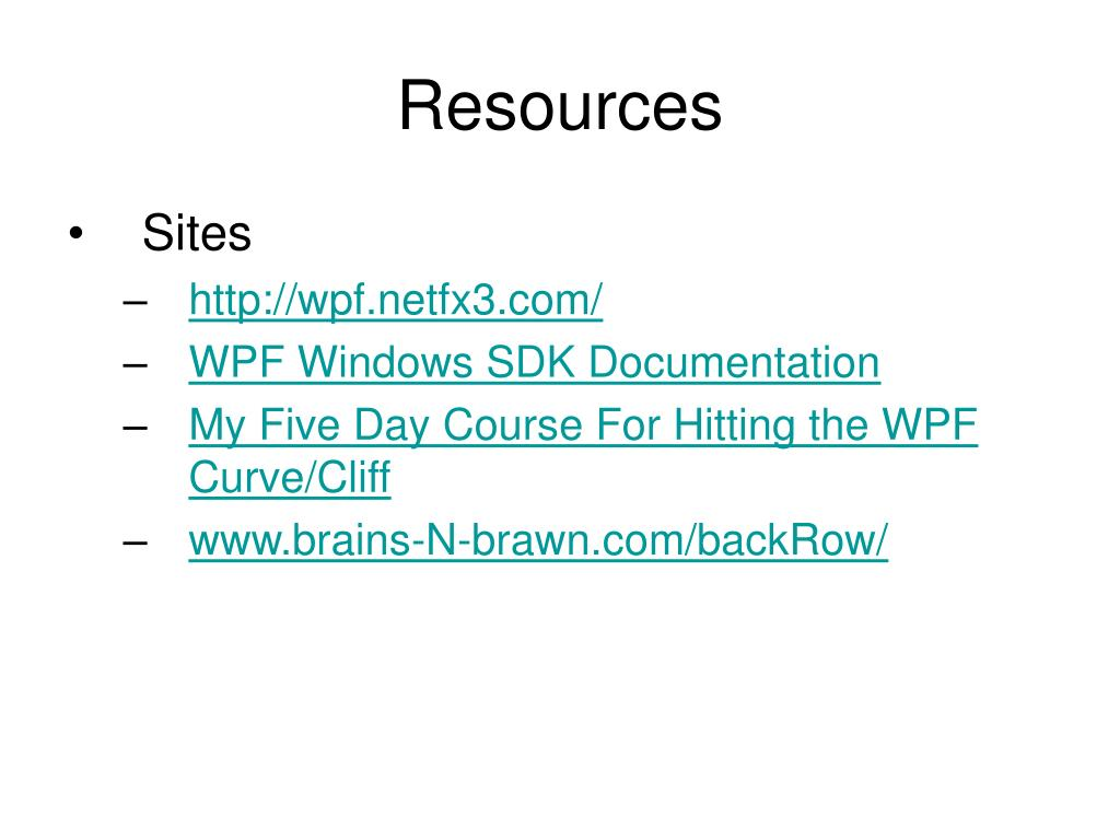 PPT - Hardcore WPF (Windows Presentation Foundation