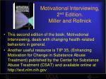 motivational interviewing 2 nd edition miller and rollnick