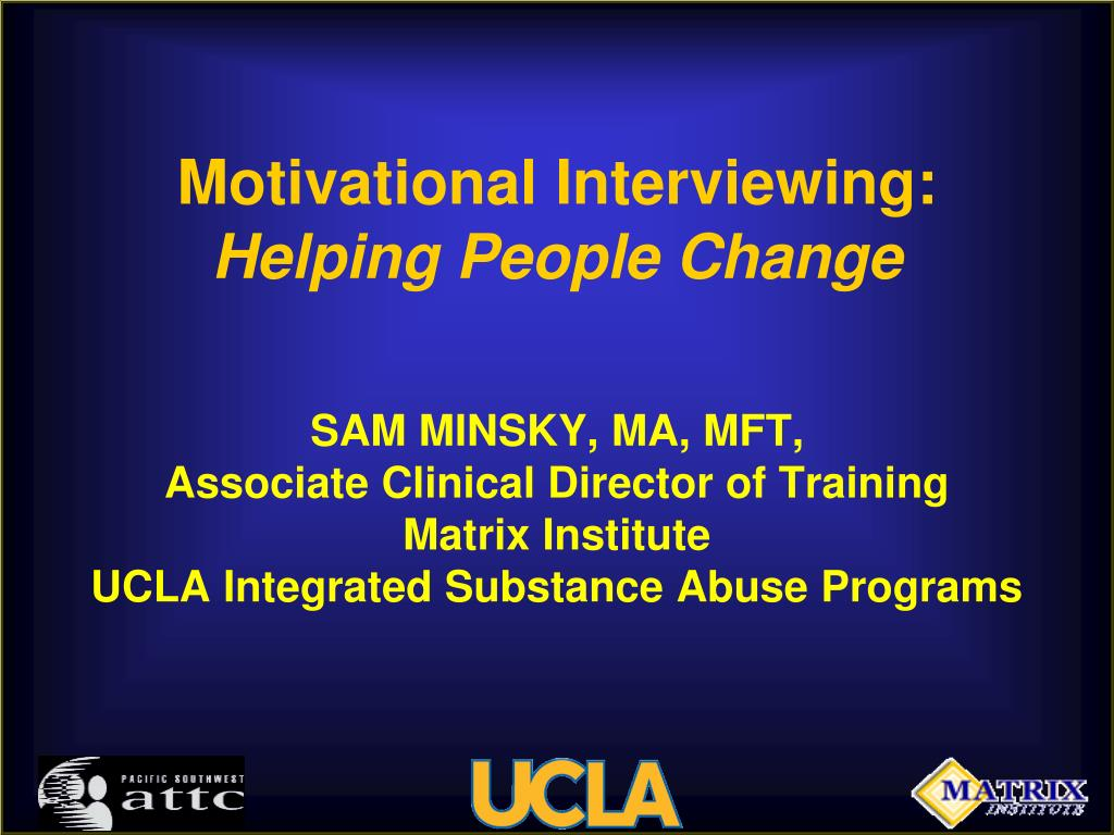 motivational interviewing helping people change l.