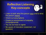 reflective listening key concepts