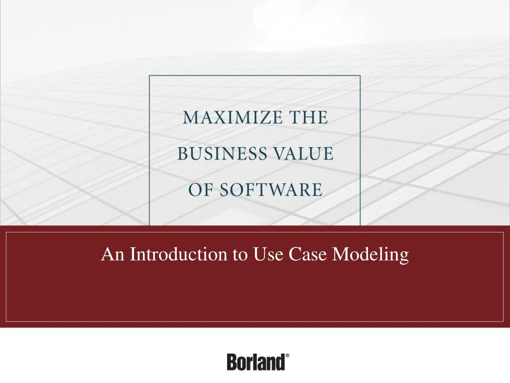 an introduction to use case modeling l.