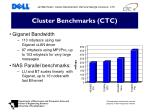 cluster benchmarks ctc