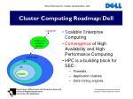cluster computing roadmap dell