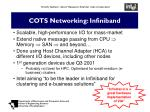 cots networking infiniband