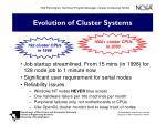 evolution of cluster systems