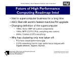future of high performance computing roadmap intel