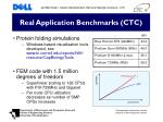 real application benchmarks ctc