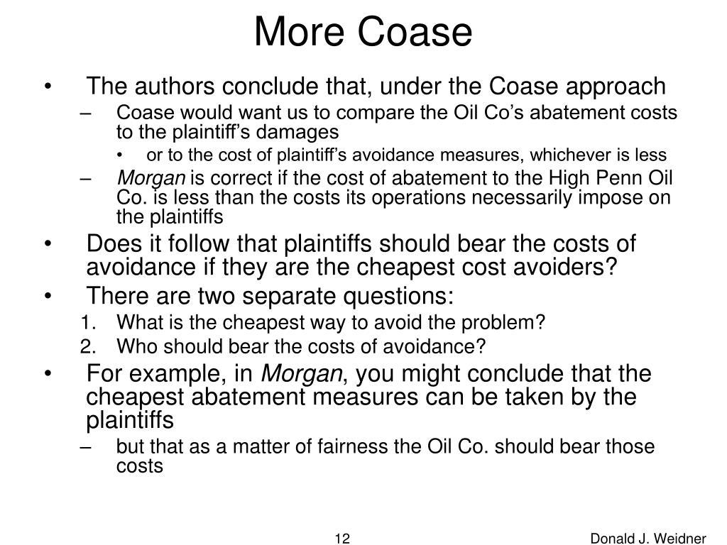 More Coase