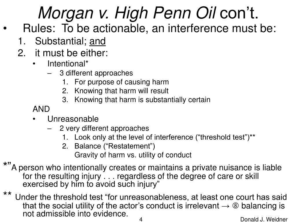 Morgan v. High Penn Oil