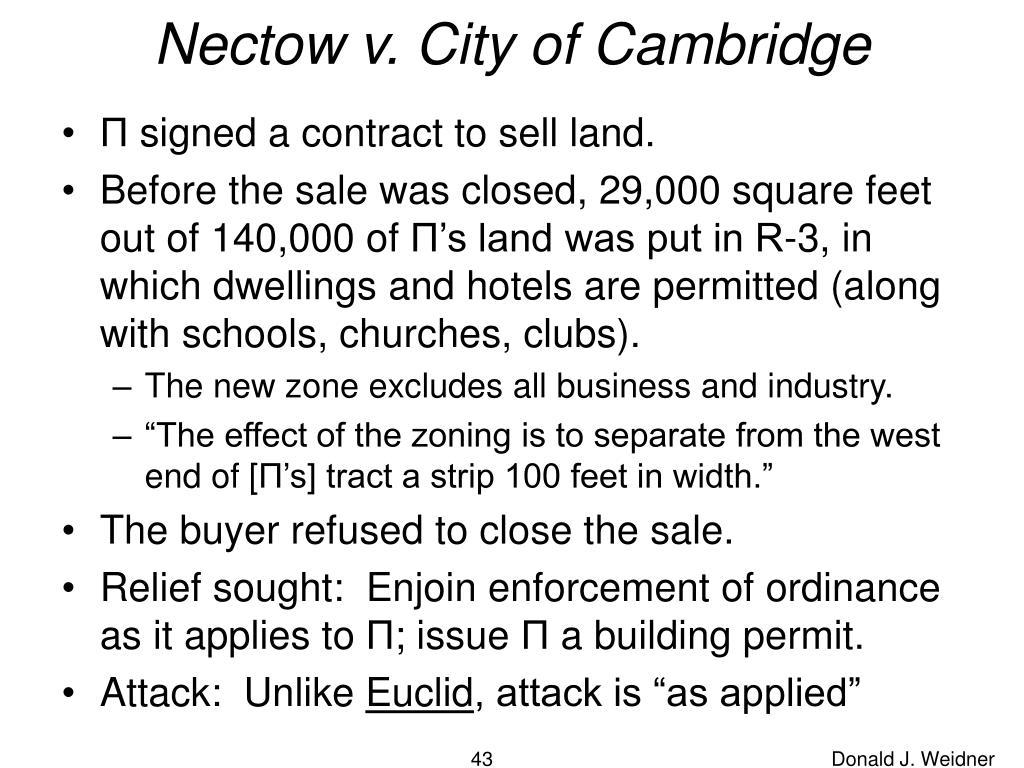Nectow v. City of Cambridge
