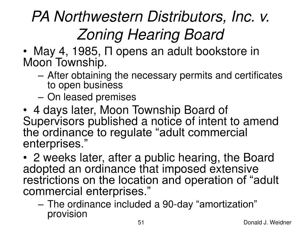 PA Northwestern Distributors, Inc. v. Zoning Hearing Board