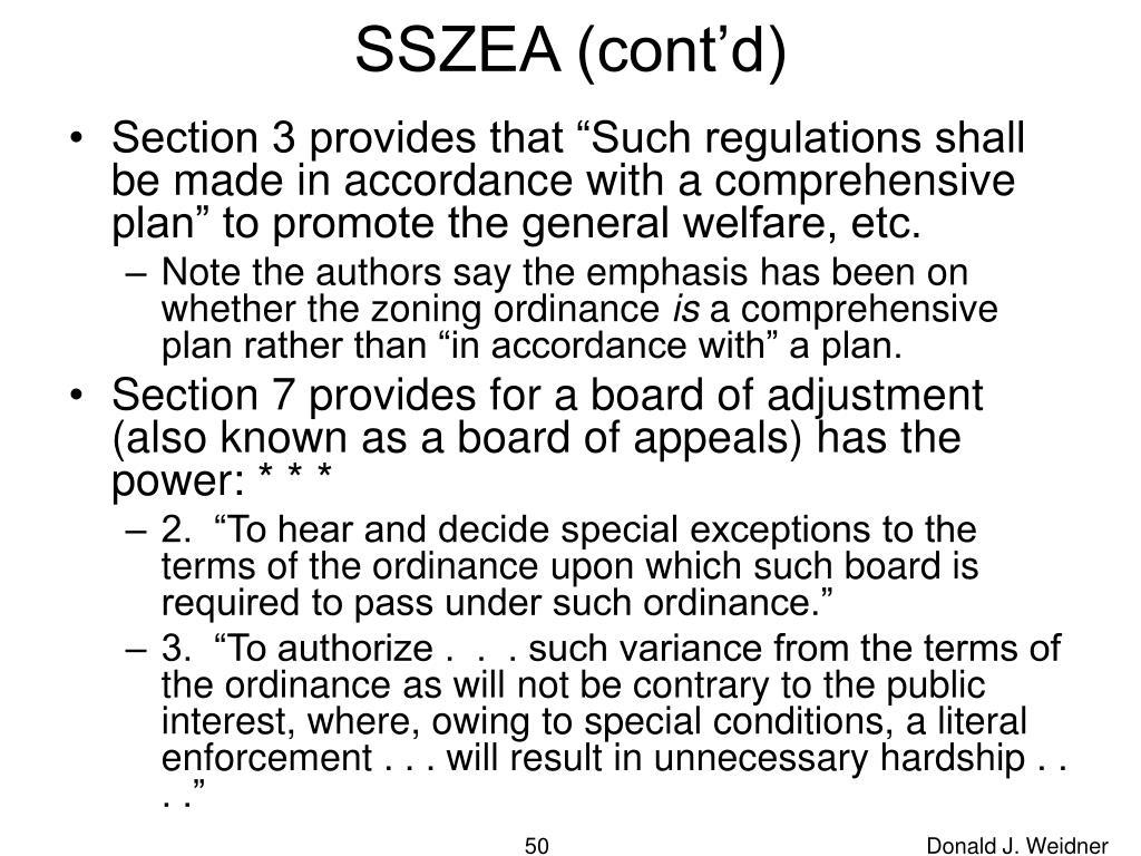 SSZEA (cont'd)