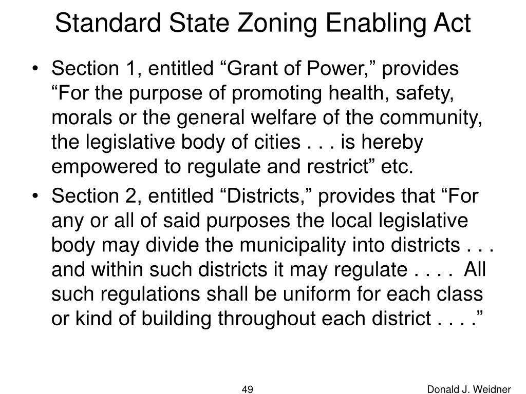 Standard State Zoning Enabling Act
