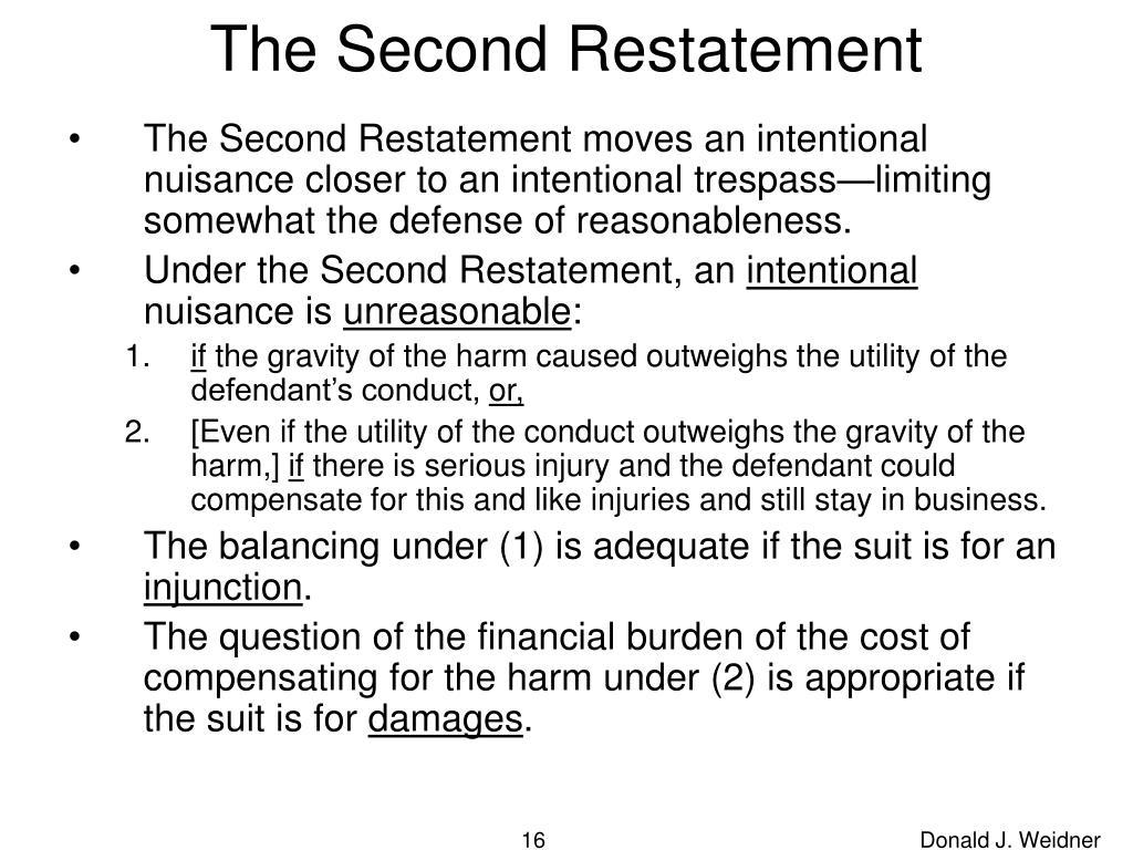 The Second Restatement