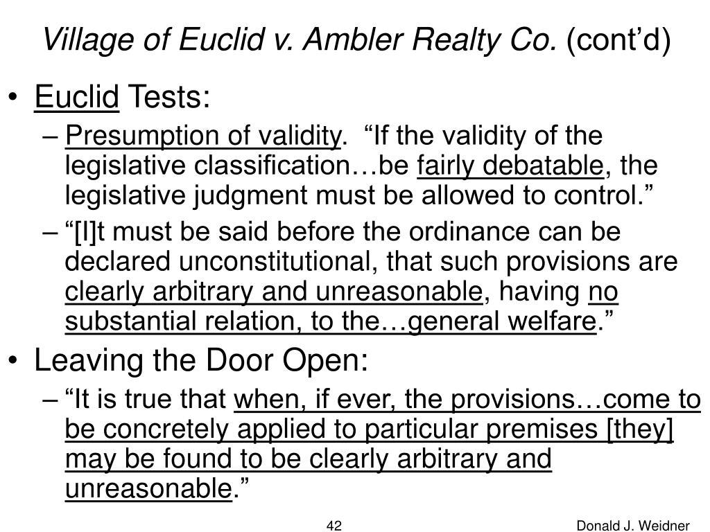 Village of Euclid v. Ambler Realty Co.