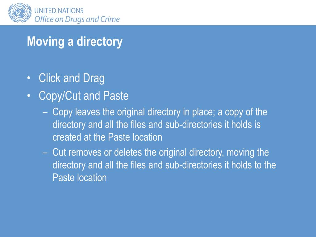 Moving a directory