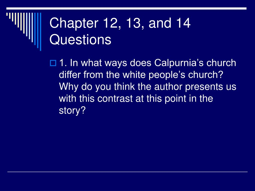 Chapter 12, 13, and 14