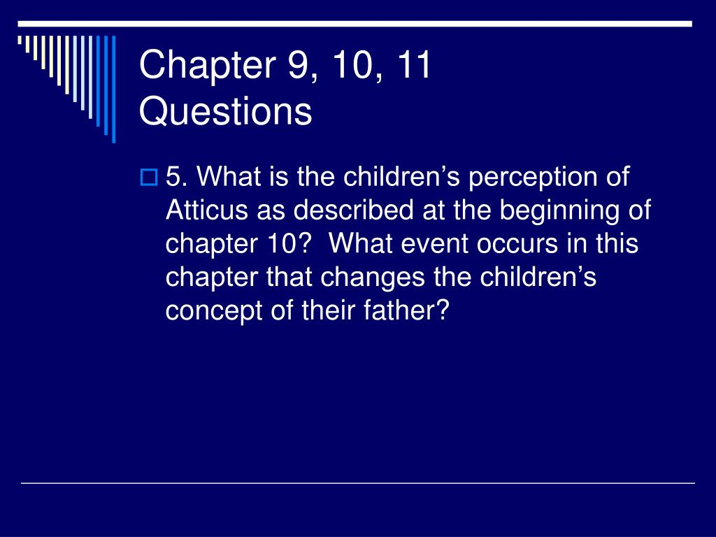 Chapter 9, 10, 11