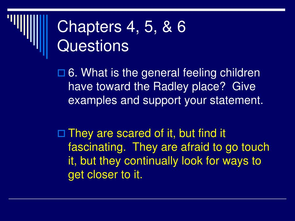 Chapters 4, 5, & 6