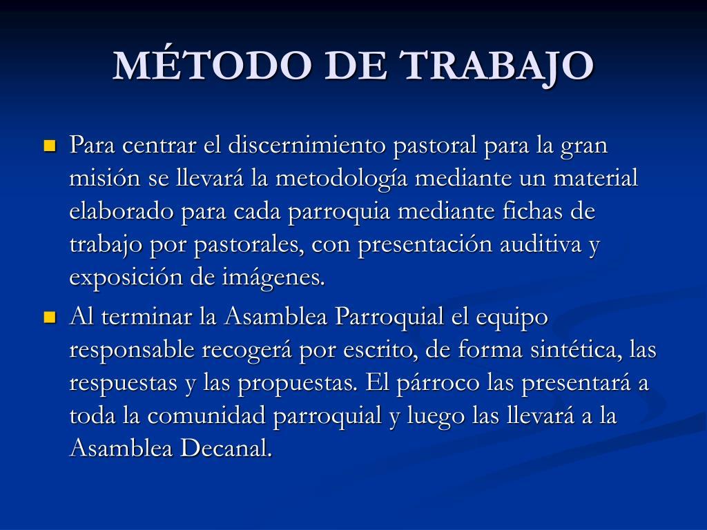 MÉTODO DE TRABAJO