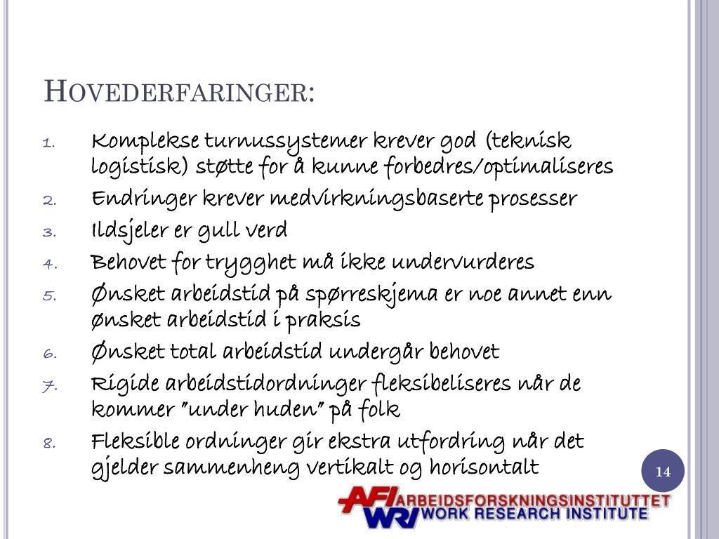 Hovederfaringer: