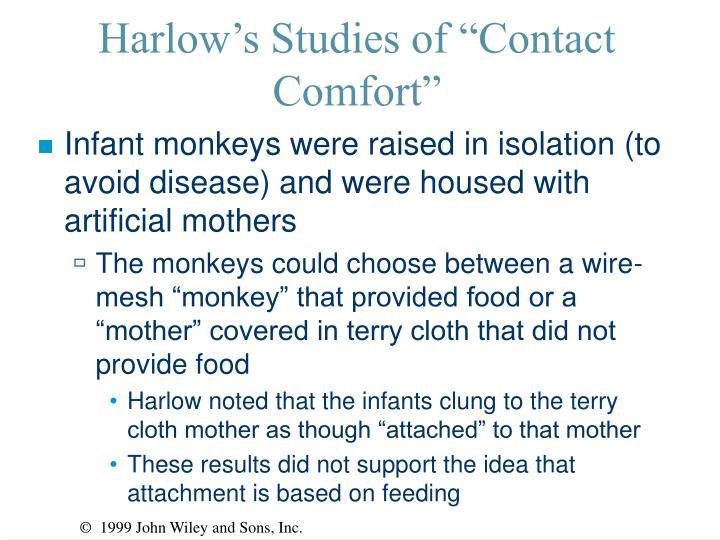 """Harlow's Studies of """"Contact Comfort"""""""