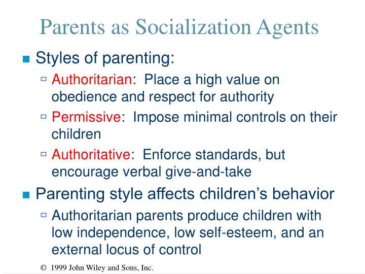 Parents as Socialization Agents