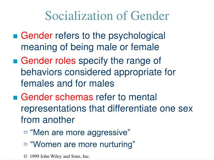 Socialization of Gender