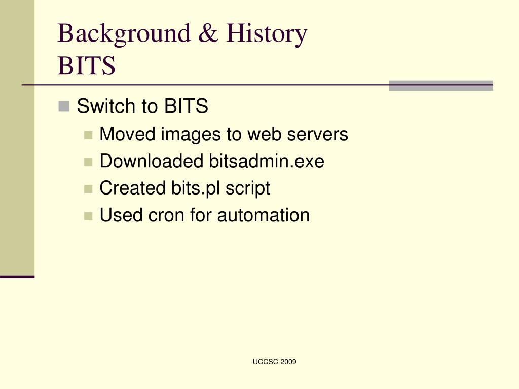 PPT - Using BITS to Transfer Ghost Images PowerPoint Presentation