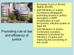 promoting rule of law and efficiency of justice