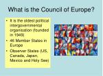 what is the council of europe