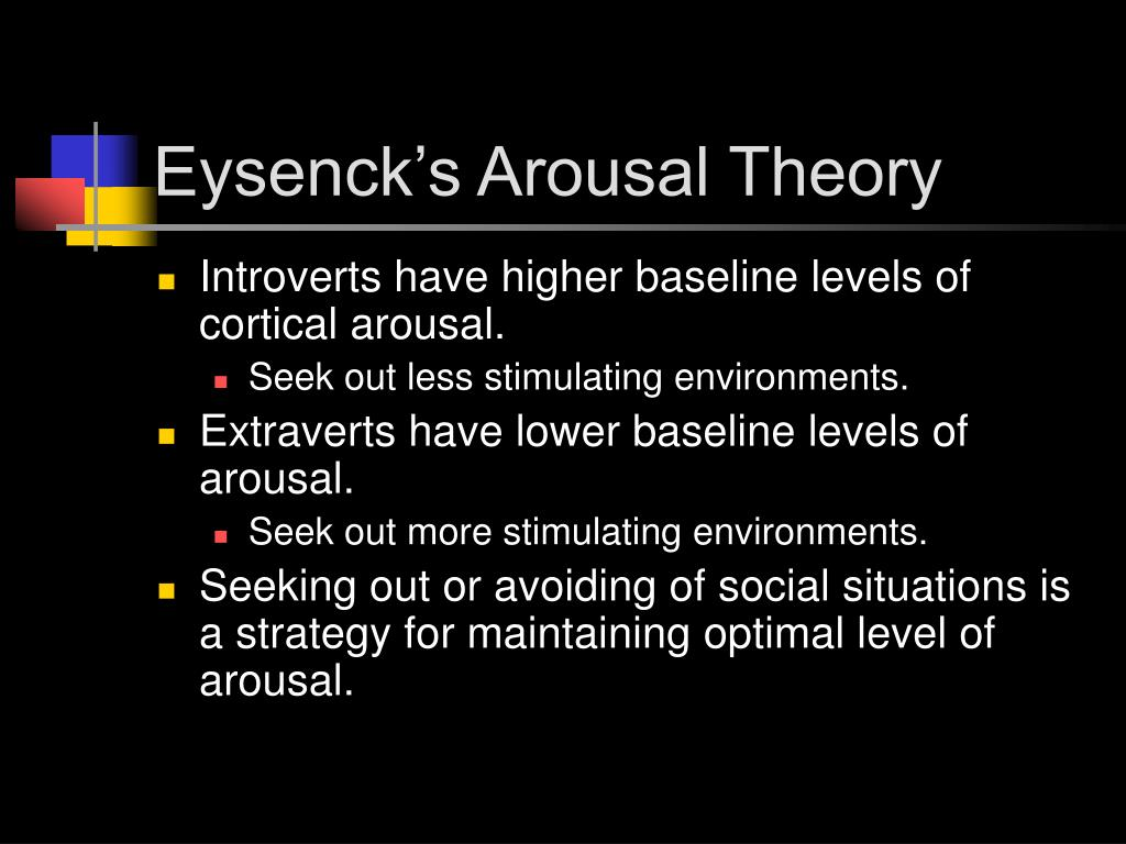 Eysenck's Arousal Theory