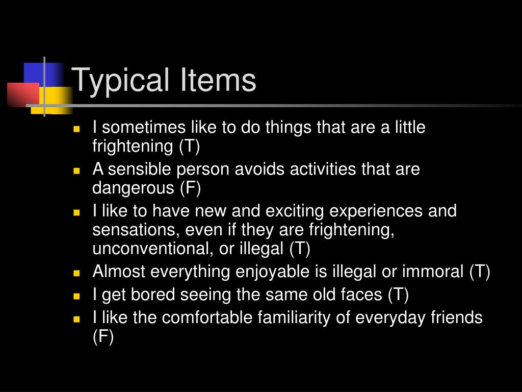 Typical Items