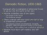 domestic fiction 1830 1865