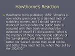 hawthorne s reaction