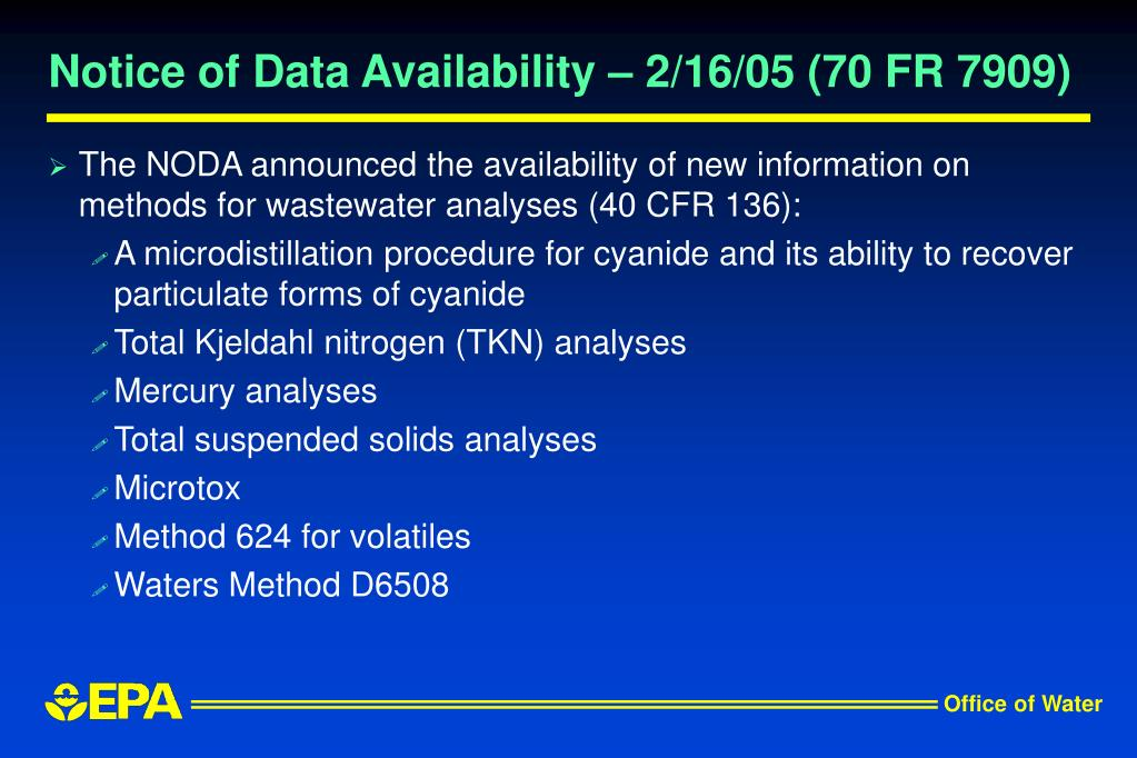 Notice of Data Availability – 2/16/05 (70 FR 7909)