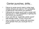 center punches drifts