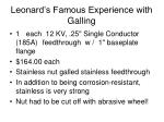 leonard s famous experience with galling