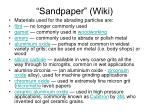 sandpaper wiki