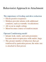 behaviorist approach to attachment4