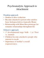 psychoanalytic approach to attachment