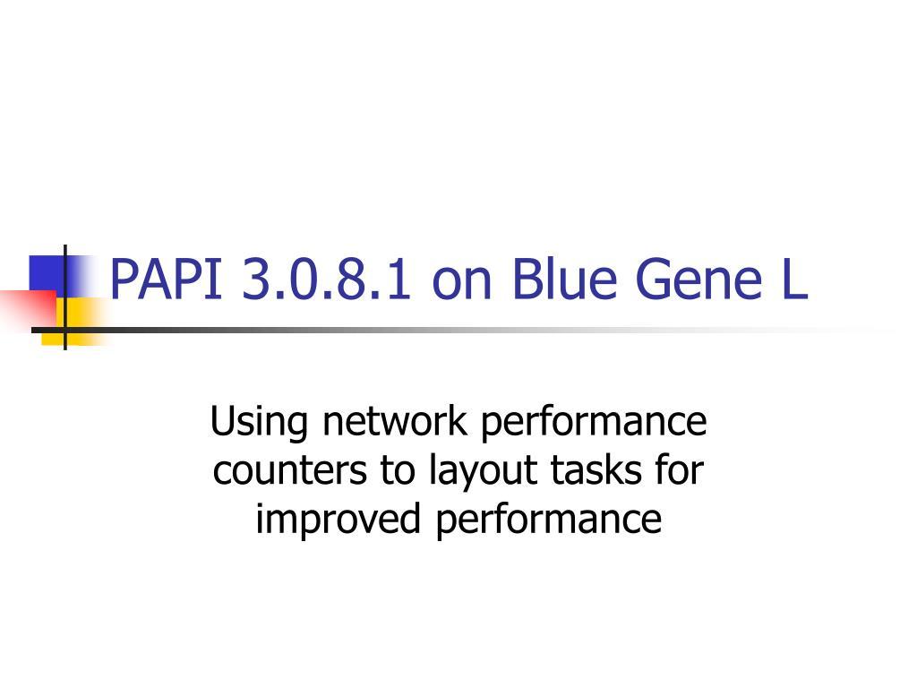 papi 3 0 8 1 on blue gene l l.