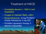 treatment of hace