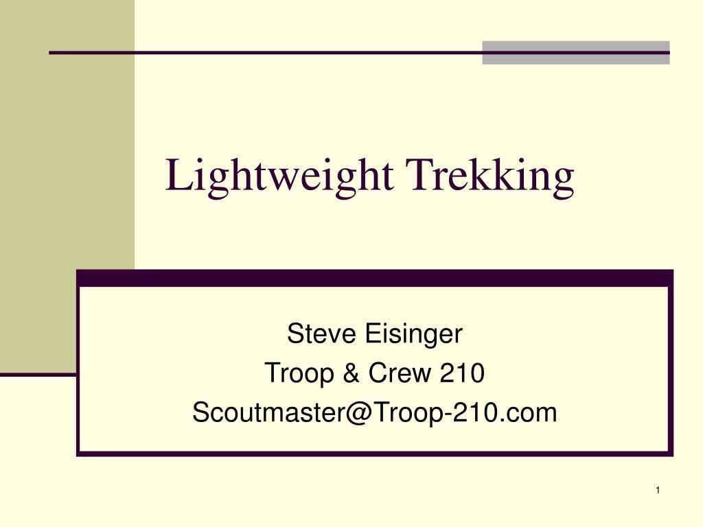 lightweight trekking l.