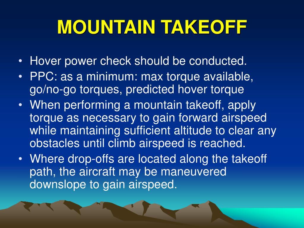 MOUNTAIN TAKEOFF