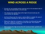 wind across a ridge