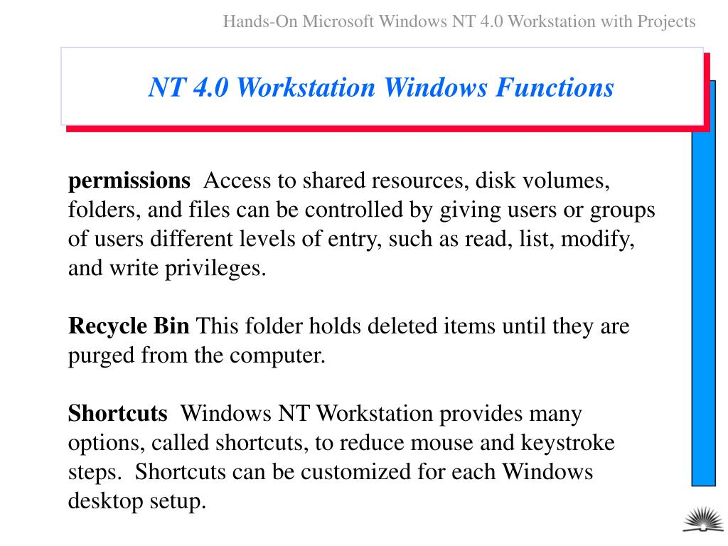 Hands-On Microsoft Windows NT 4.0 Workstation with Projects