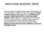 indo china bilateral trade
