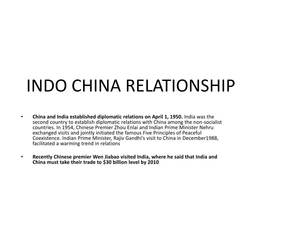 indo china relationship l.